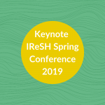 header graphic: keynote IReSH Spring Conference