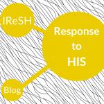 graphic reading IReSH Response to HIS Blog